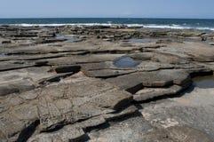 Rocky Coast. Moffat Beach, Sunshine Coast, Queensland, Australia Royalty Free Stock Photo