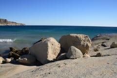 Rocky coast. At Cabo de Gata, Spain Stock Photography