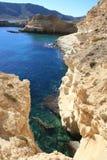 Rocky coast. At Cabo de Gata, Spain Royalty Free Stock Photo