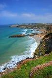 Rocky coast. Rocky shore in Newquay, Cornwall, UK Stock Photography