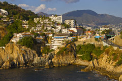 Rocky coast of Acapulco. View of rocky coast of Acapulco Royalty Free Stock Photos