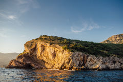 Rocky coast of the Adriatic Sea in Montenegro Royalty Free Stock Photo