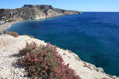 Rocky Coast of Agua Armada. Spain Royalty Free Stock Photo