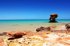 Rocky Coast along the Indian Ocean, Australia Stock Photo
