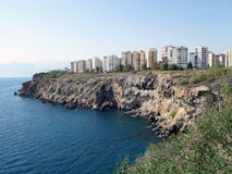 The rocky coast of Antalya Stock Images
