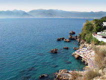The rocky coast of Antalya Royalty Free Stock Photos