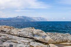 Rocky coast archipelago sardegna Sardinia island Italy. Rocky coast archipelago sardegna or Sardinia island Italy royalty free stock photo
