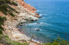 Rocky coast archipelago sardegna Sardinia island Italy. Rocky coast archipelago sardegna or Sardinia island Italy stock photo