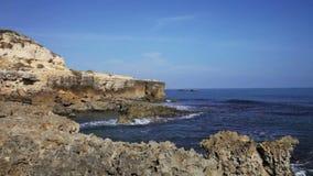 Rocky coast of the Atlantic Ocean stock video footage