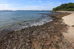 Rocky Coast beach Pattaya Thailand Royalty Free Stock Image