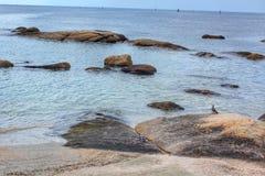 Rocky coast on the beach Stock Image