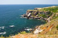 Rocky coast of Black Sea Royalty Free Stock Images