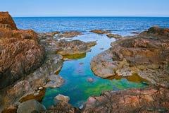 Rocky Coast of Black Sea Stock Images