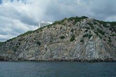 Rocky coast of Black sea. Royalty Free Stock Photos