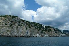 Rocky coast of Black sea. Royalty Free Stock Photo
