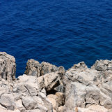 Rocky Coast Blue Sea Royalty Free Stock Images