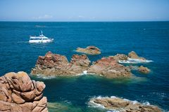 Rocky coast of Brittany, France Stock Photo