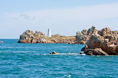 Rocky coast in Brittany, France Royalty Free Stock Image