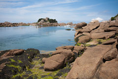 Rocky coast of Brittany in France Royalty Free Stock Photography