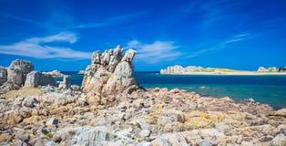 Rocky coast of Brittany Royalty Free Stock Photography