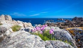 Rocky coast of Brittany Stock Photo