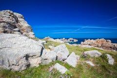 Rocky coast of Brittany Royalty Free Stock Photo