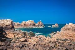 Rocky coast of Brittany Stock Photography
