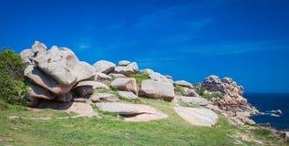 Rocky coast of Brittany Stock Photos
