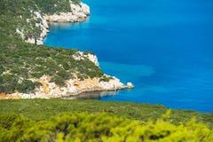 Rocky coast in Capo Caccia Stock Image
