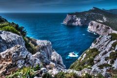 Rocky coast in Capo Caccia Royalty Free Stock Image