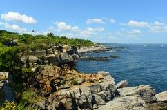 Rocky Coast at Casco Bay, Maine. Rocky Coast at Casco Bay near Portland, Maine, USA Stock Photos