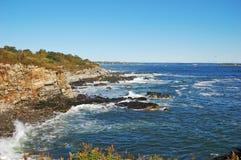 Rocky Coast at Casco Bay near Portland, Maine, USA.  Royalty Free Stock Image