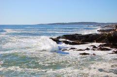 Rocky Coast at Casco Bay near Portland, Maine, USA.  Stock Photography