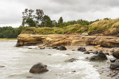 Rocky coast and a cliff Royalty Free Stock Image