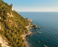 Rocky coast of Corfu, Greece Stock Photo