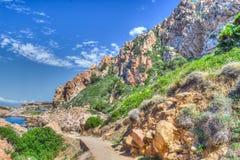 Rocky coast in Costa Paradiso Royalty Free Stock Photo