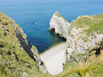 Rocky coast cote d'albatre of english channel Royalty Free Stock Images