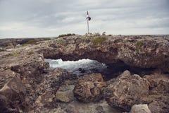 Rocky Coast in Cozumel, Mexico Stock Photo