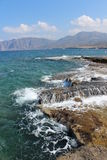 Rocky coast of Crete Stock Photos