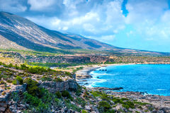 Rocky Coast of Crete, Greece Stock Image