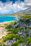 Rocky Coast of Crete, Greece Stock Images