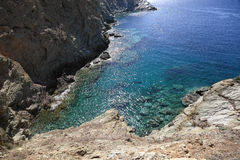 Rocky coast of Crete Island Stock Photography