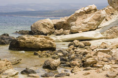 Rocky coast on Cyprus Royalty Free Stock Photos