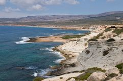 Rocky coast on Cyprus Stock Photos