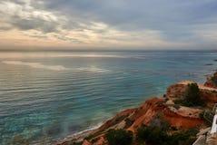 Rocky coast of Dehesa de Campoamor. Spain Stock Photos