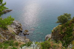 Rocky coast of Dubrovnik Royalty Free Stock Photography