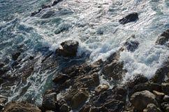 Rocky Coast. Dusk in the rocky coast. Cantabrian Sea, Spain Stock Images