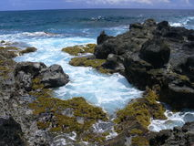 Rocky coast of Easter Island Stock Photos