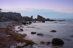 Rocky Coast of Folhammar, Gotland Royalty Free Stock Photography