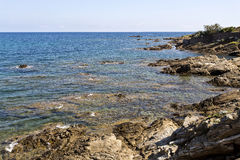 Rocky Coast in the French Riviera Royalty Free Stock Image